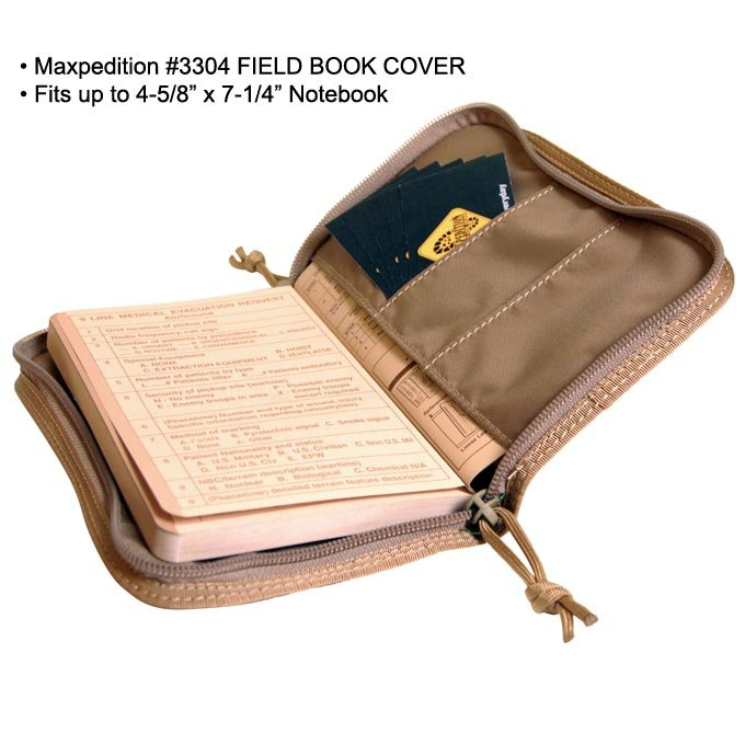 maxpedition field book cover